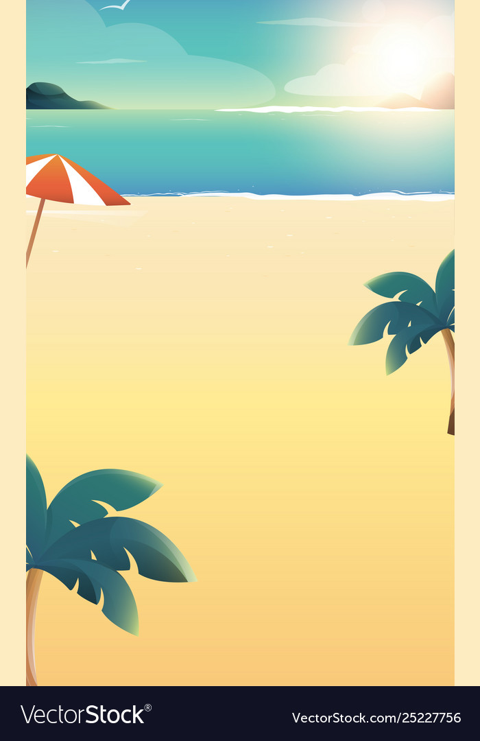 Background for summer beach vacation