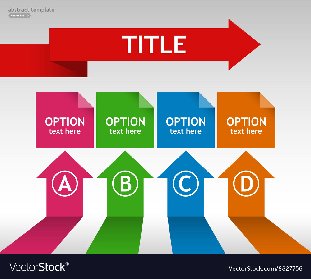 Business infographic template with options and tit