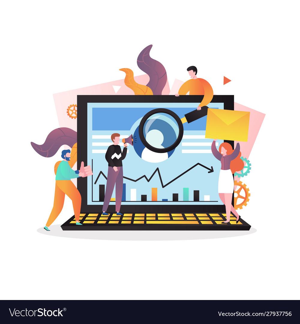 Digital marketing concept for web banner