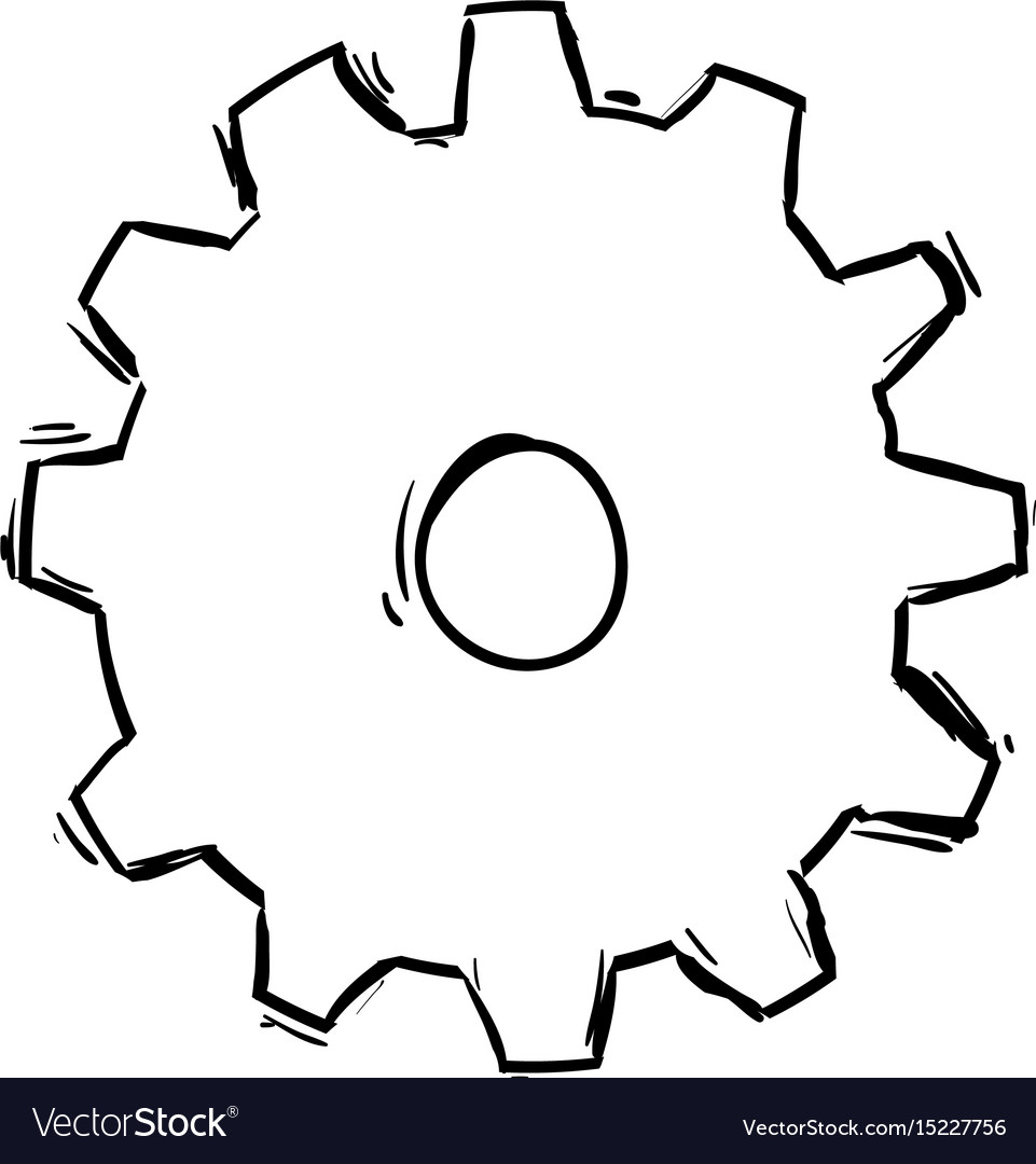 Gear machinery drawing vector image