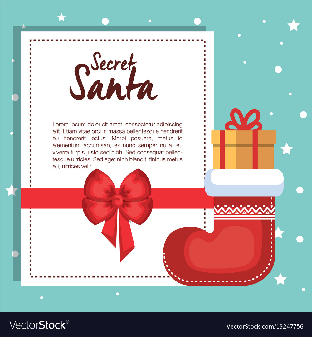 Merry christmas gift card Royalty Free Vector Image