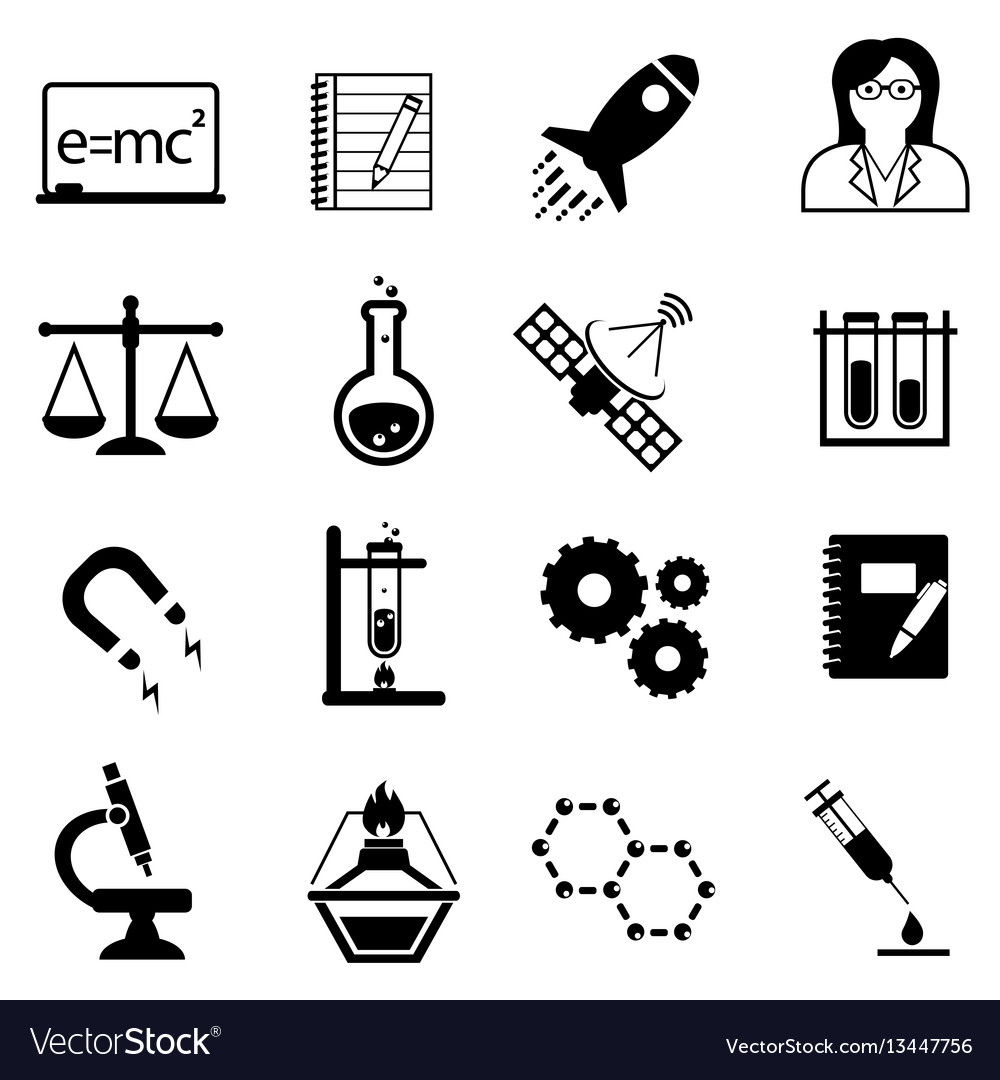 Science and scientific discovery icons