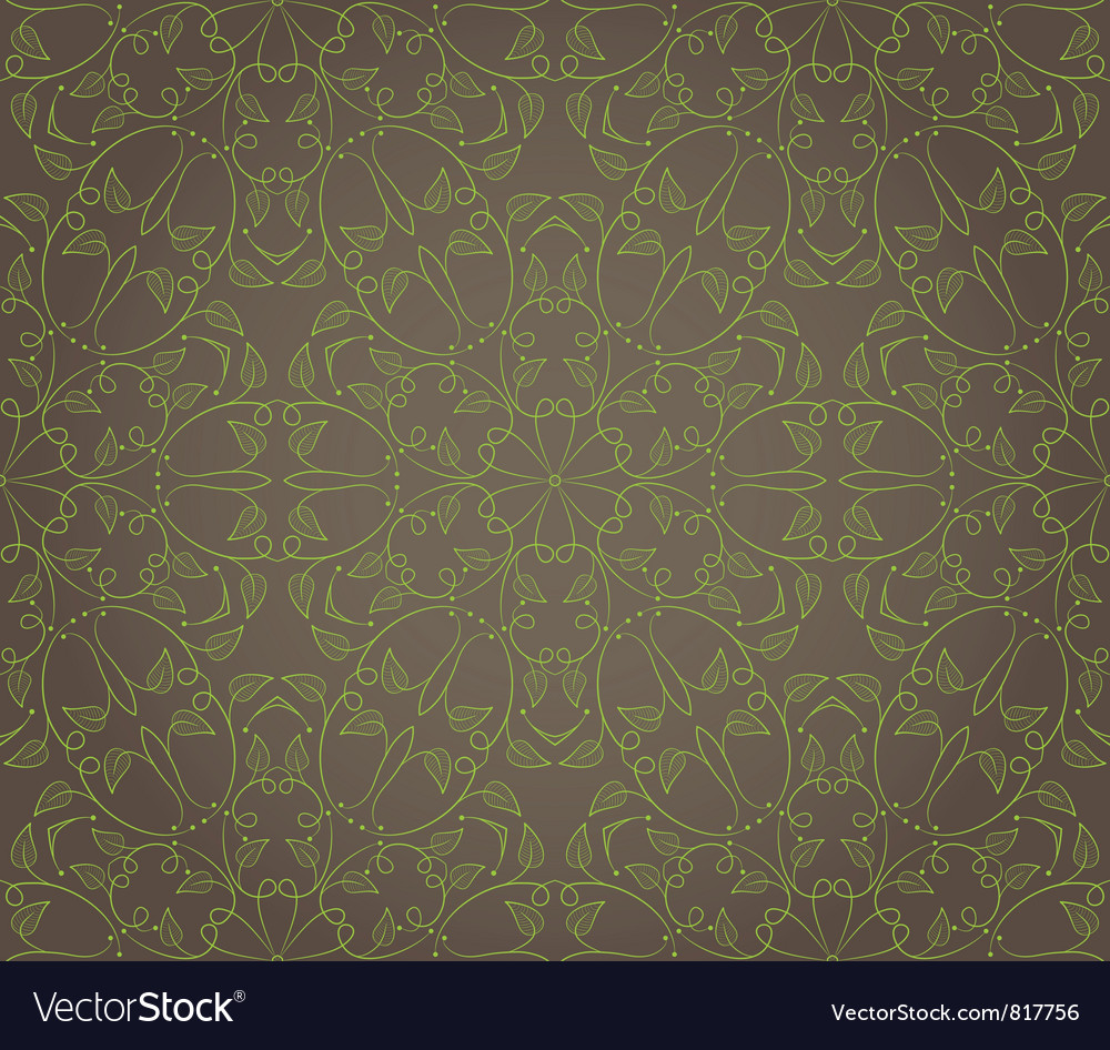 Seamless wallpaper with floral ornament