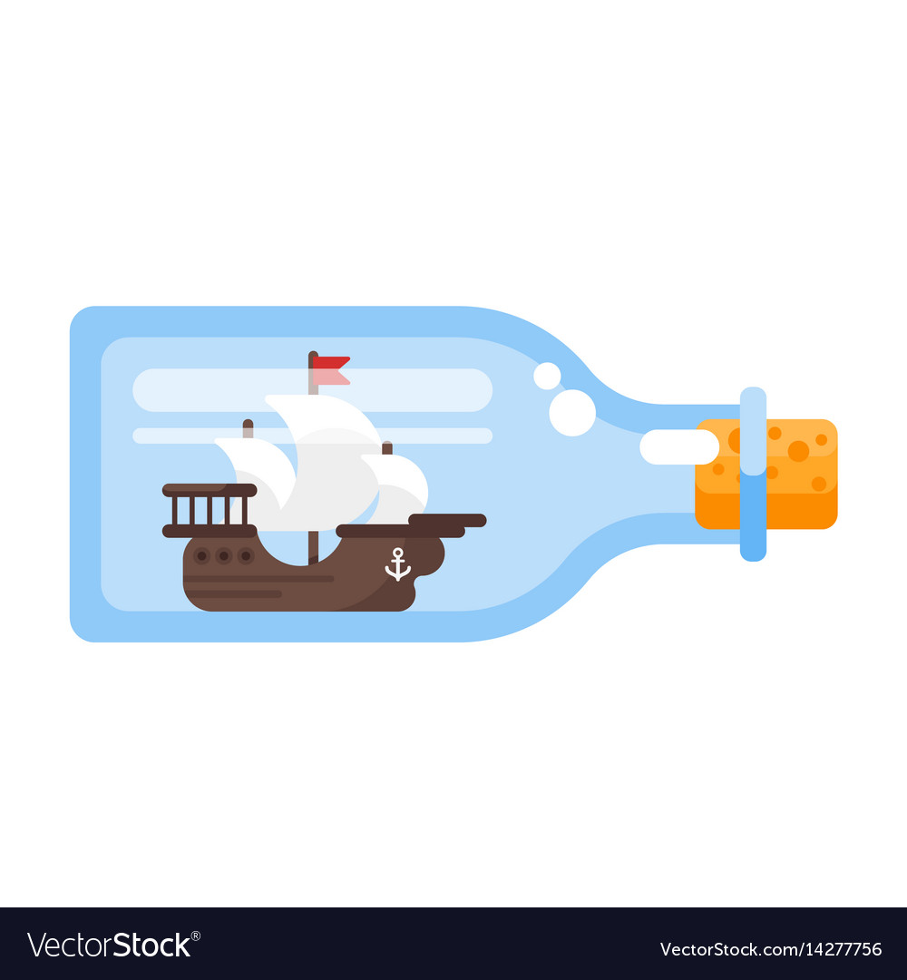 Ship in a glass bottle