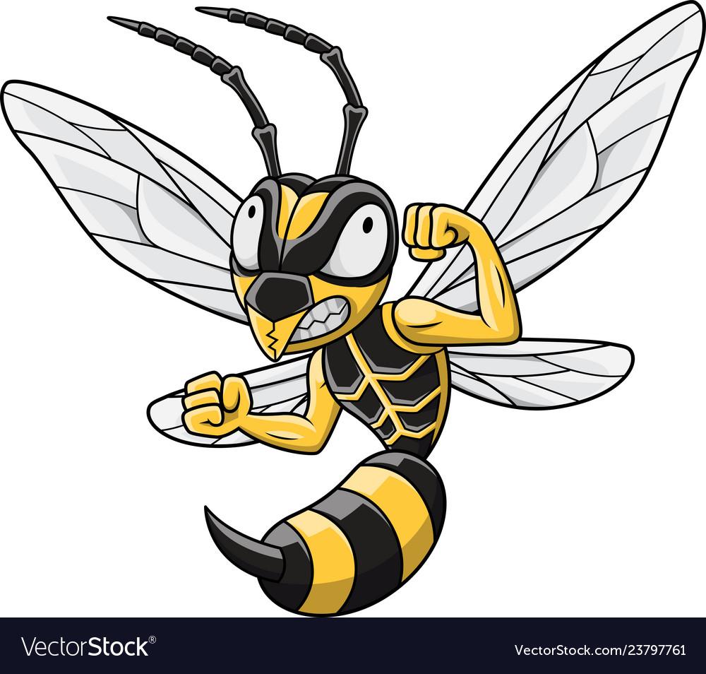 Cartoon hornet mascot