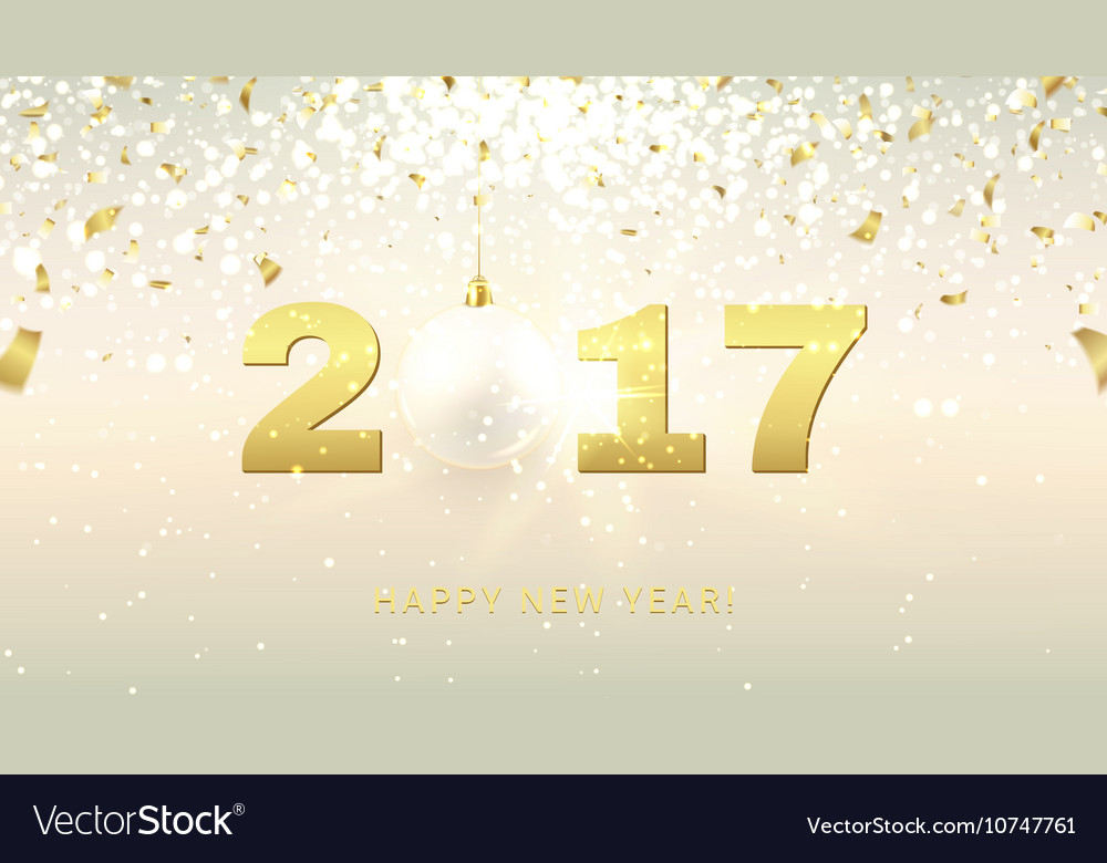 elegant happy new year gift card vector image