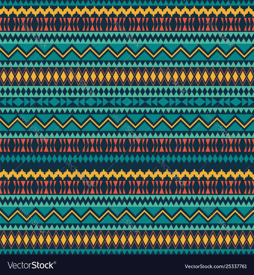 Ethnic seamless patterns aztec geometric