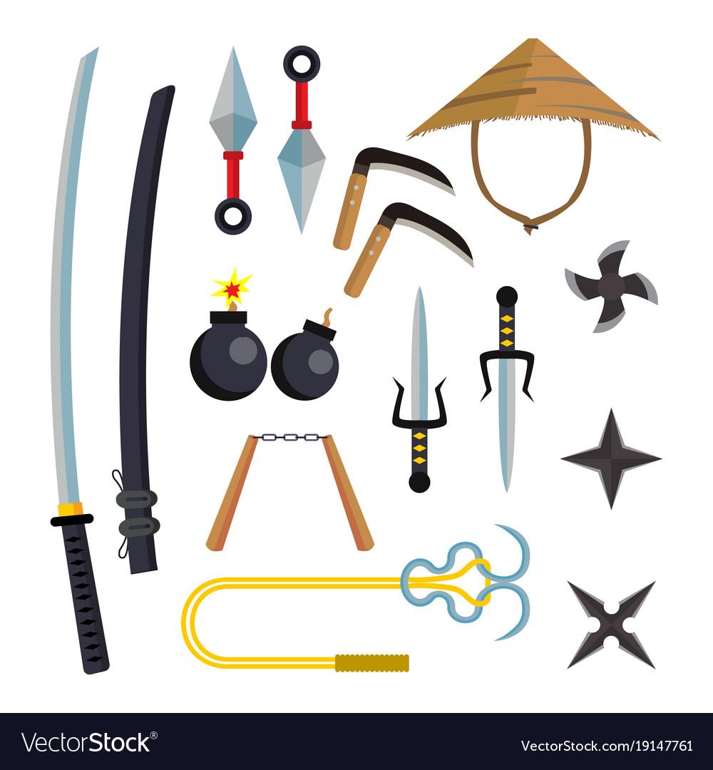 Ninja weapons set assassin accessories