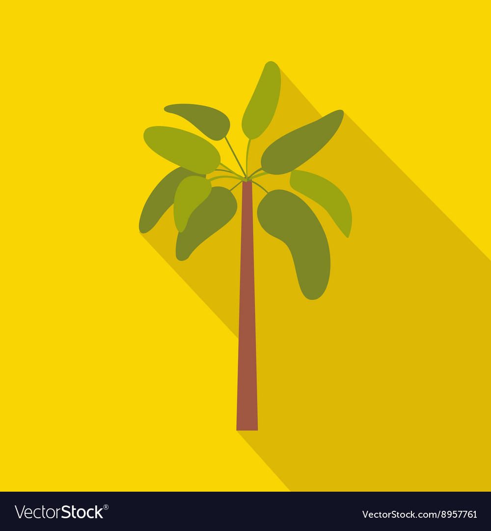 Palm plant tree icon flat style vector image