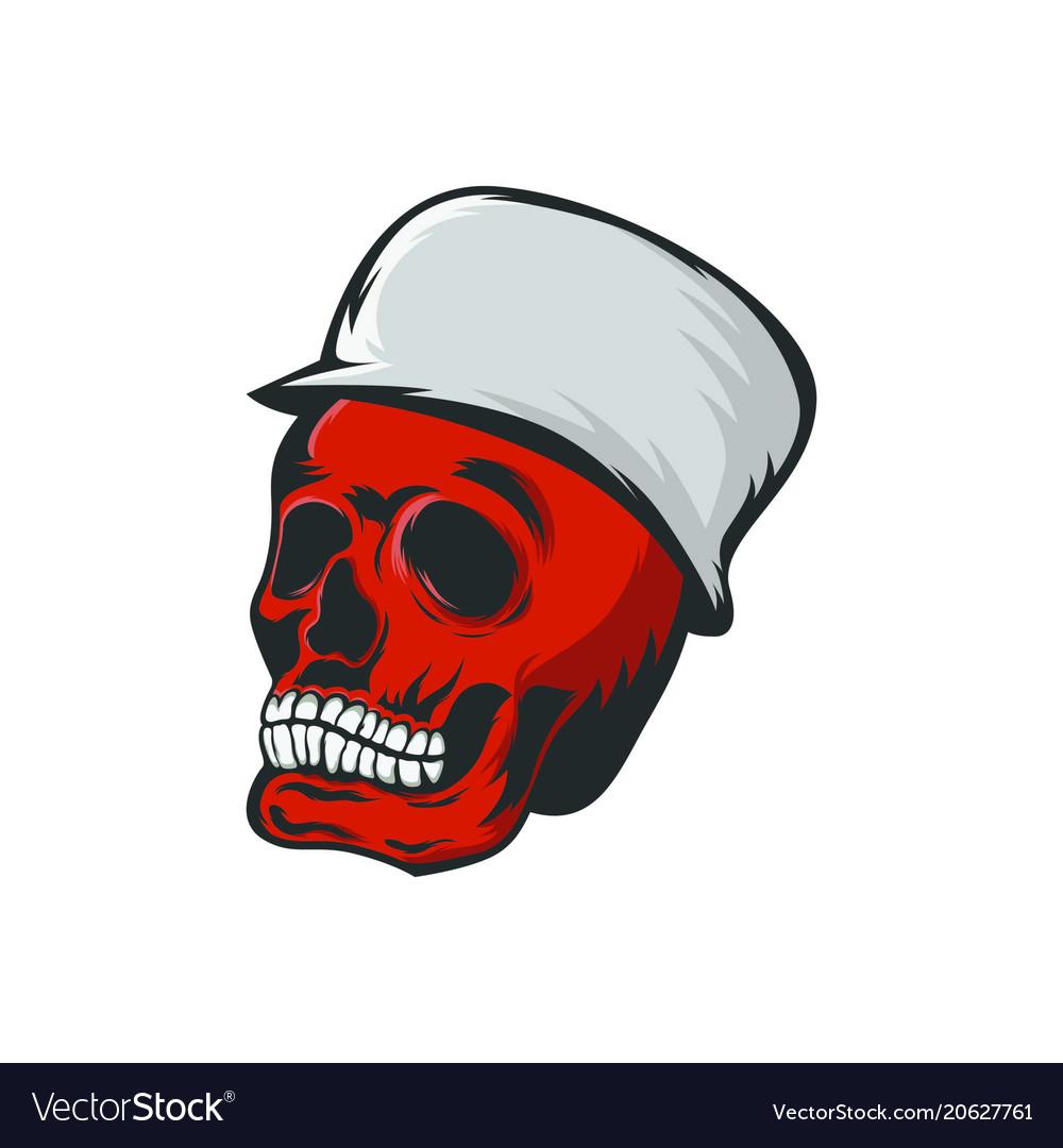 Skull monocrome head charactre