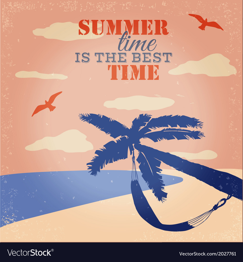 Summer Poster Royalty Free Vector Image