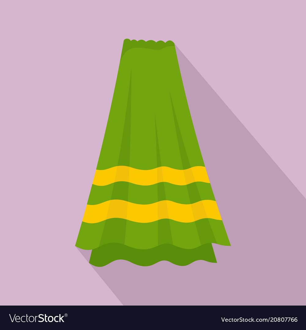 Bath towel icon flat style