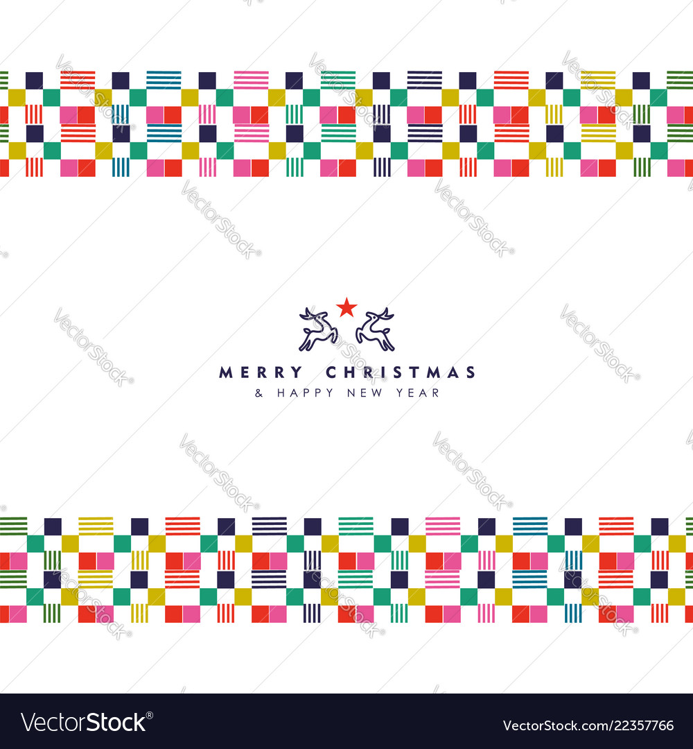 Christmas and new year abstract border decoration