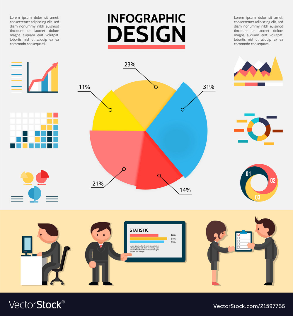 Flat abstract infographic template
