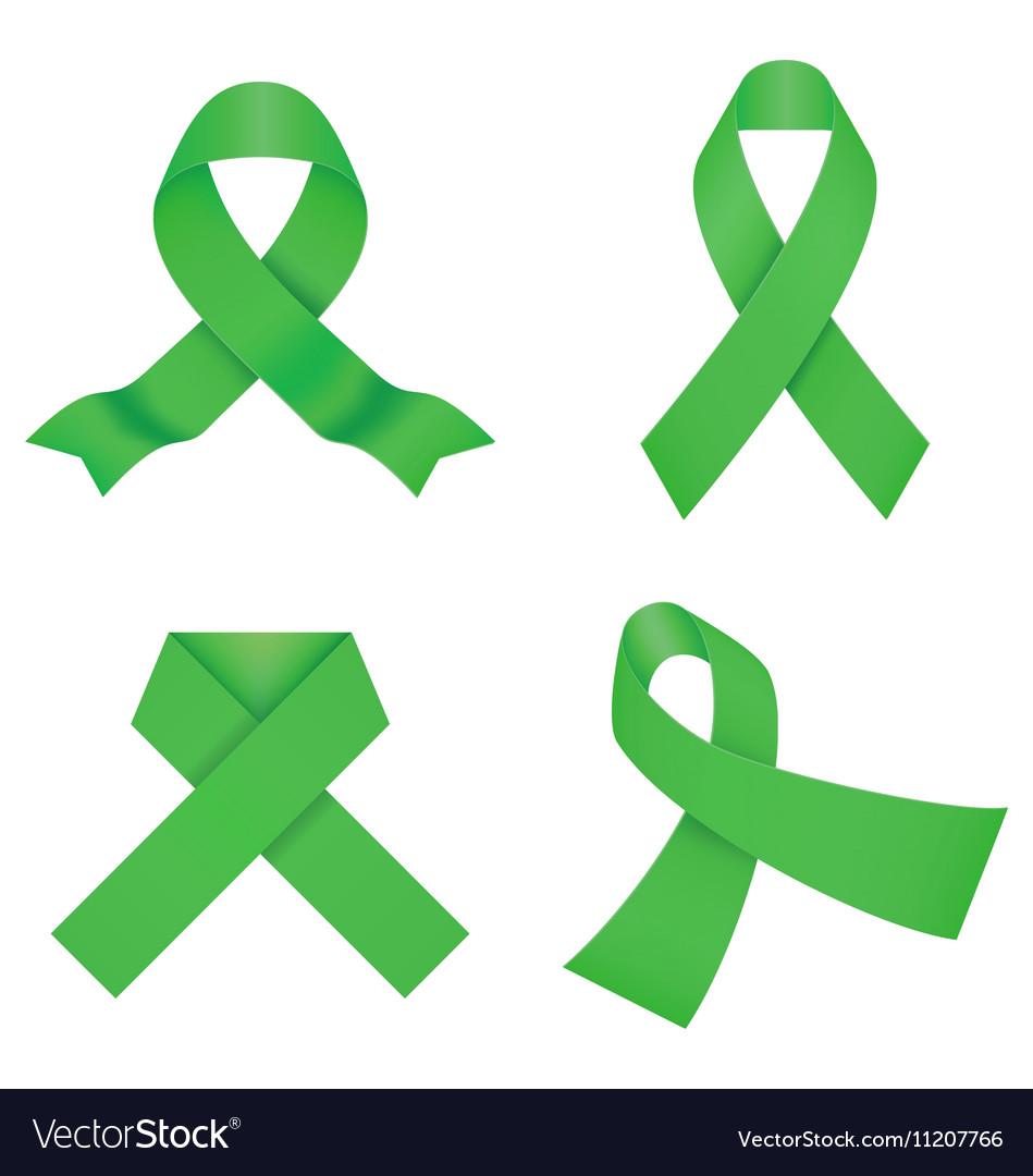 Green awareness ribbons