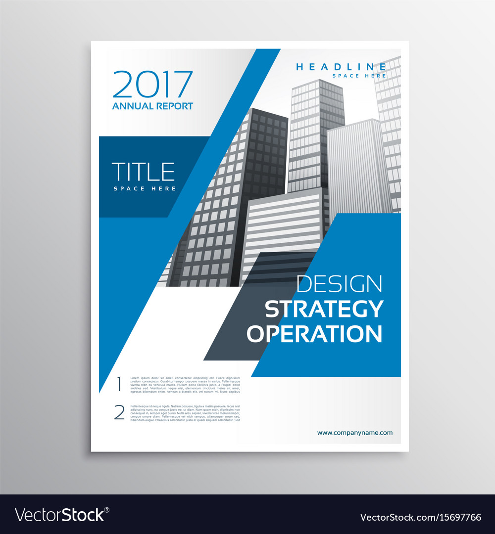 modern blue business brochure template design vector image