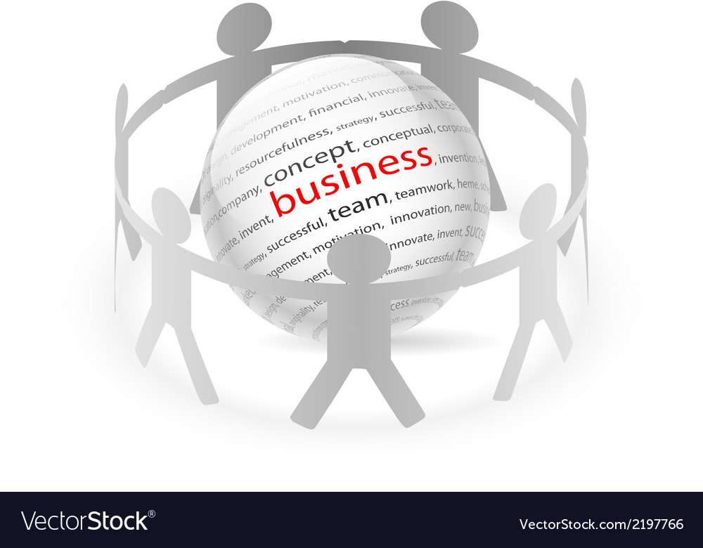 People Chain busines vector image