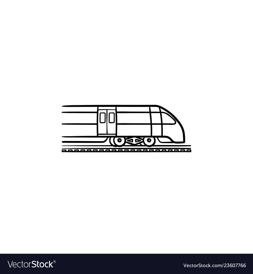 Train hand drawn outline doodle icon