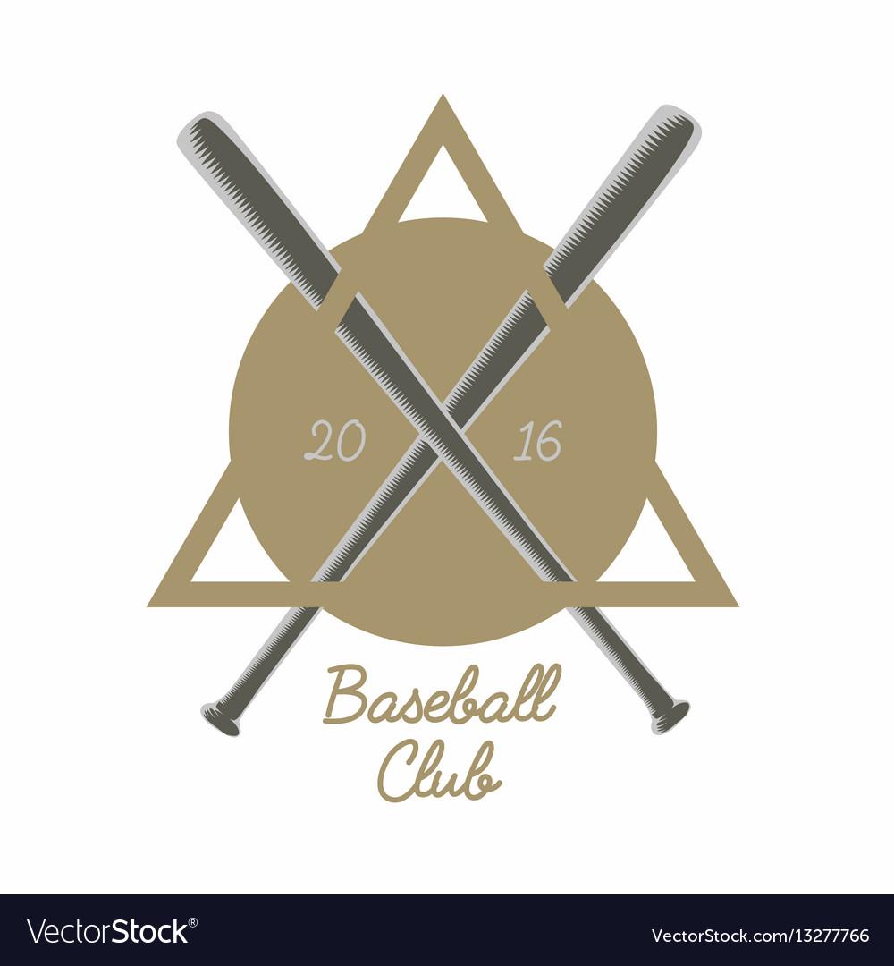 Vintage baseball club logo emblem badge or