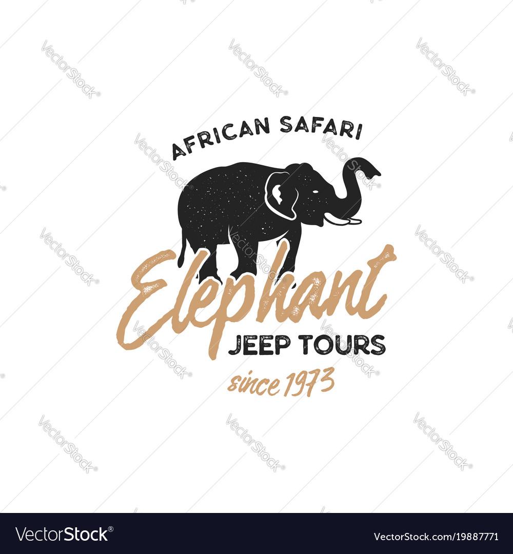 Adventure logo design jeep tours badge template