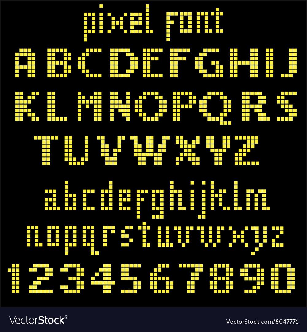 Big yellow pixel font