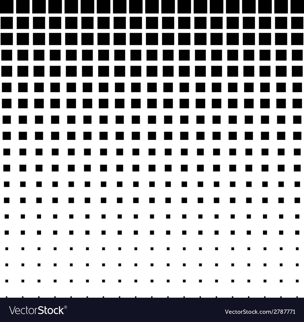 Black Abstract Halftone Square Dot Background vector image