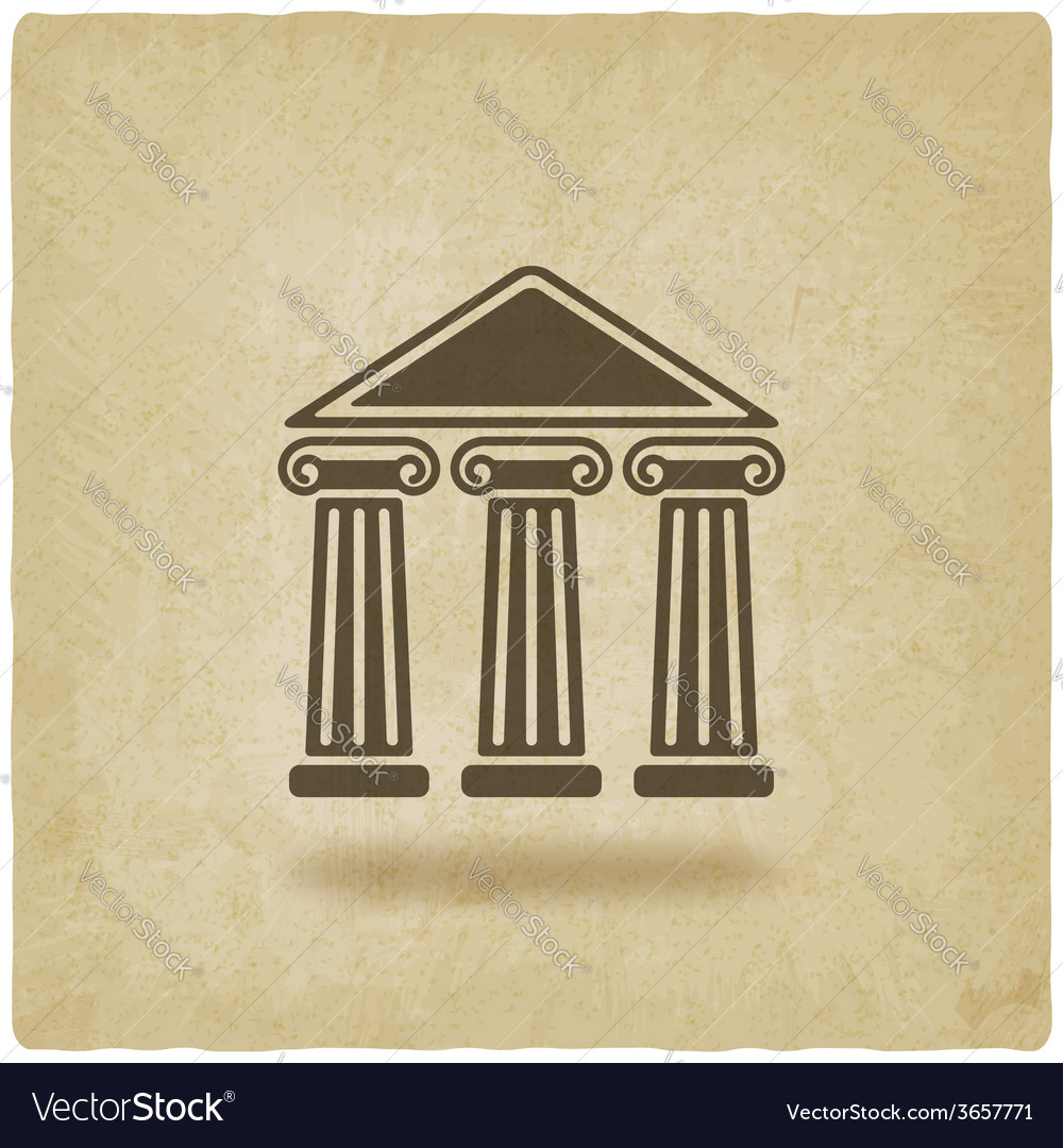 Building with columns old background