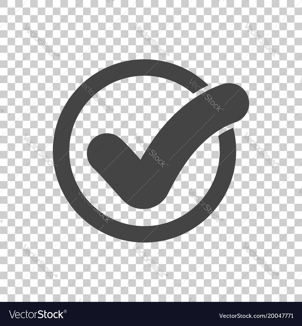 Check mark button icon flat