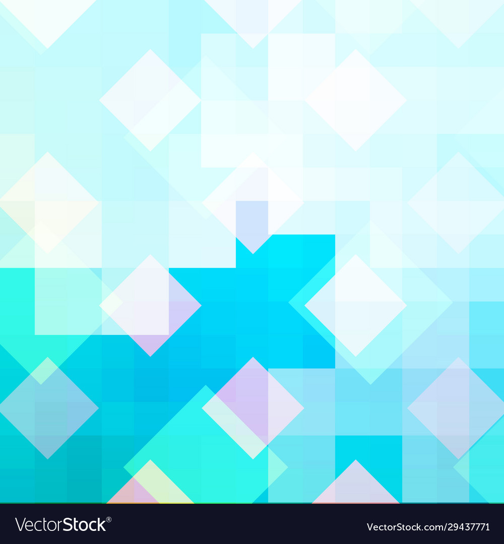 Cyan mosaic abstract background with ice pattern