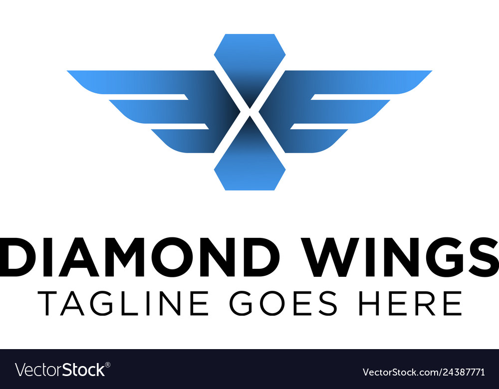 Diamond wings logo design inspiration
