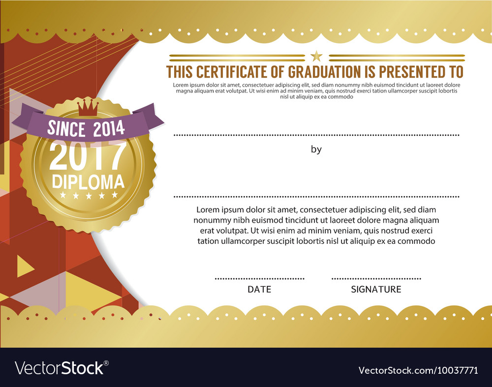 diploma certificate blank template royalty free vector image
