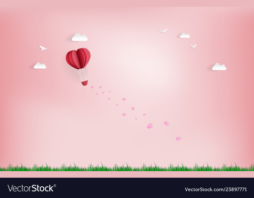 Landscape and concept balloon flying over cloud