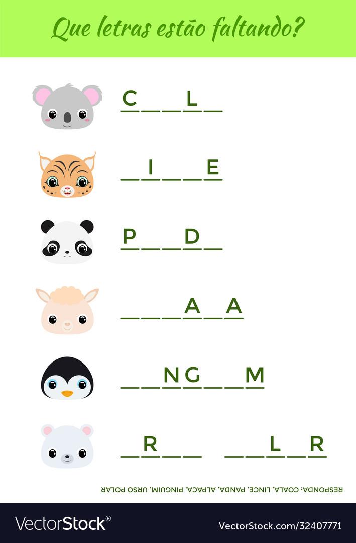 Que letras est o faltando - what letters are