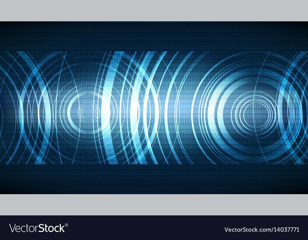 Technological ecco soundwave background vector image