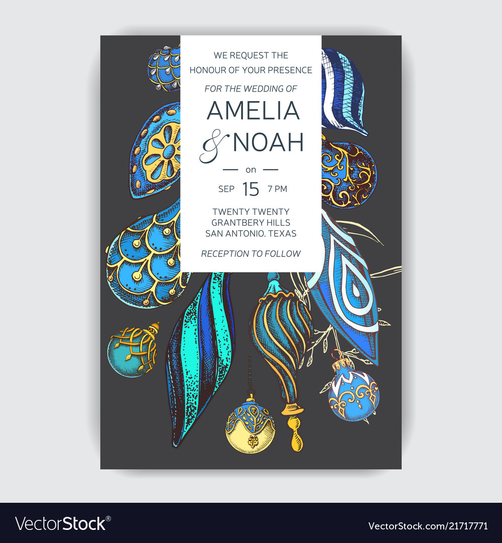 Wedding invitation for the winter ceremony