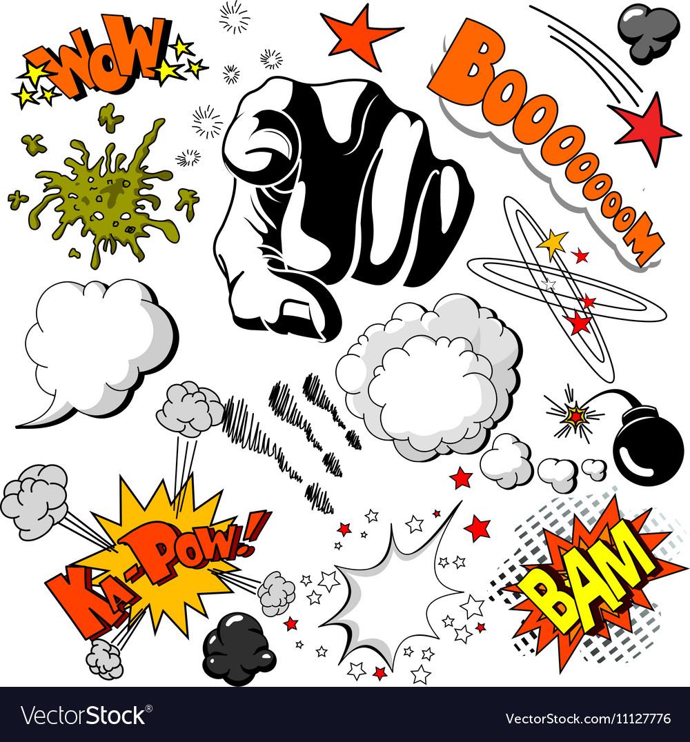 16 comic001 vector image