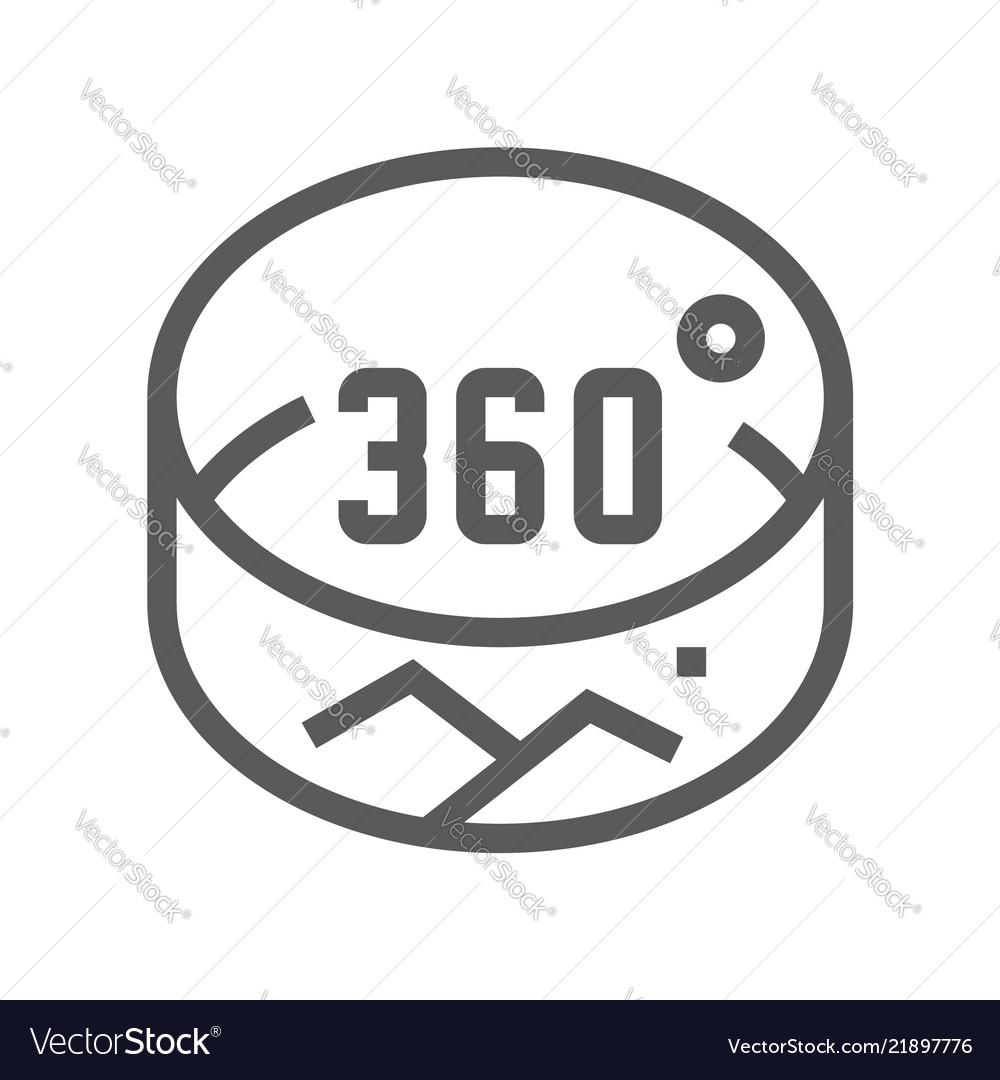 360 degrees line icon