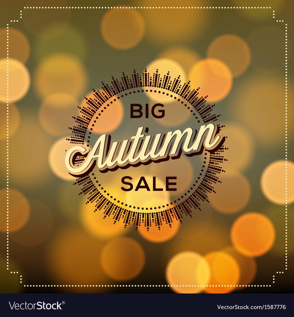 Autumn Sale poster bokeh background