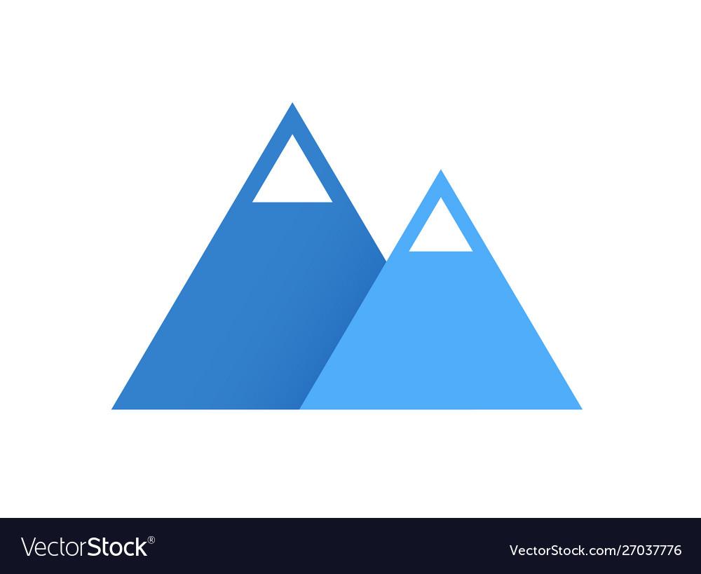 Blue mountains flat logo icon