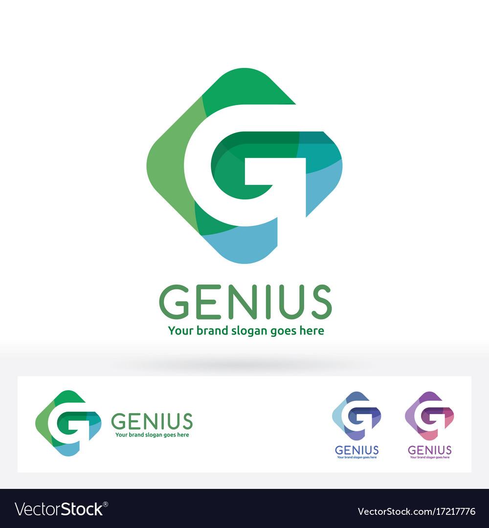 G letter logo g letter in harmony color rectangle