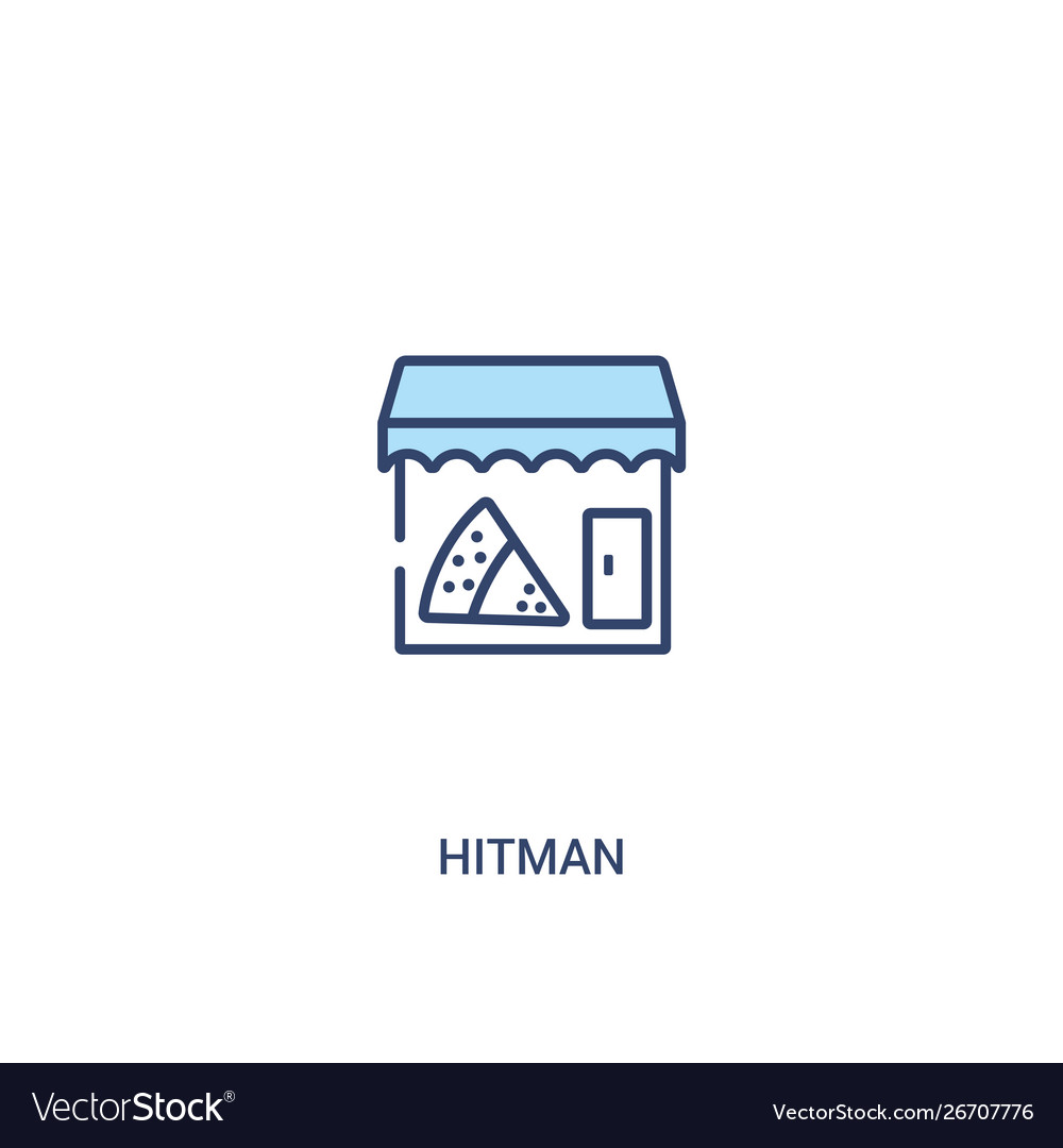 Hitman Concept 2 Colored Icon Simple Line Element Vector Image