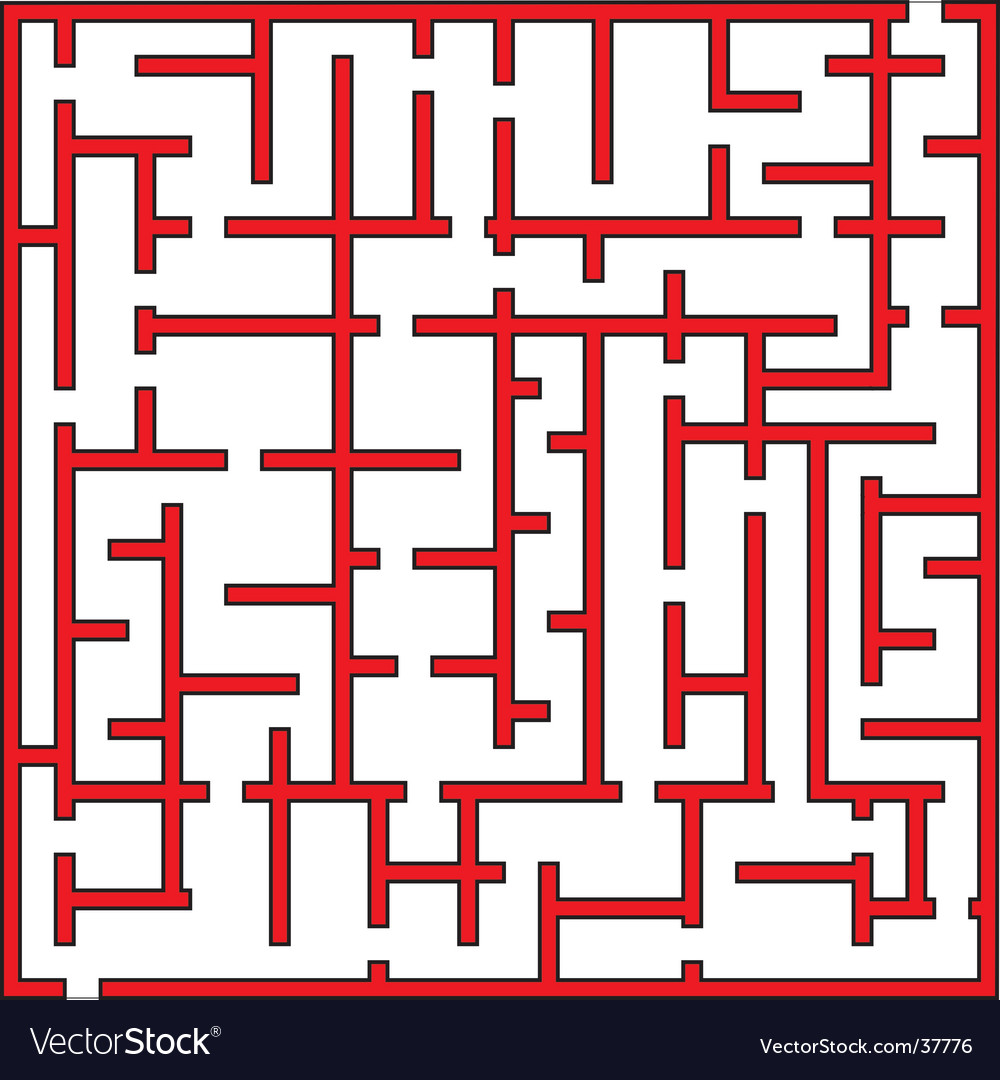 Labyrinth maze vector image