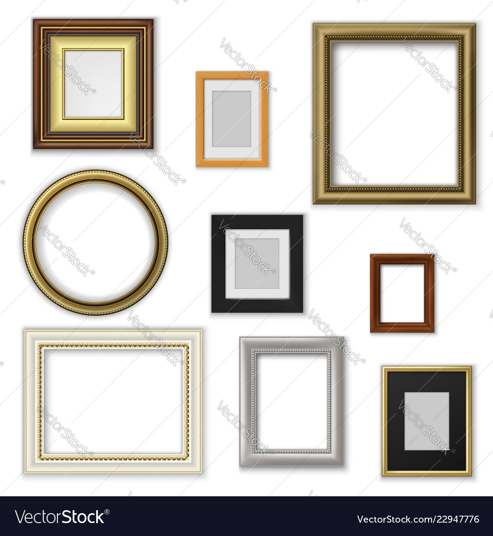 Picture and photo frames interior blank borders