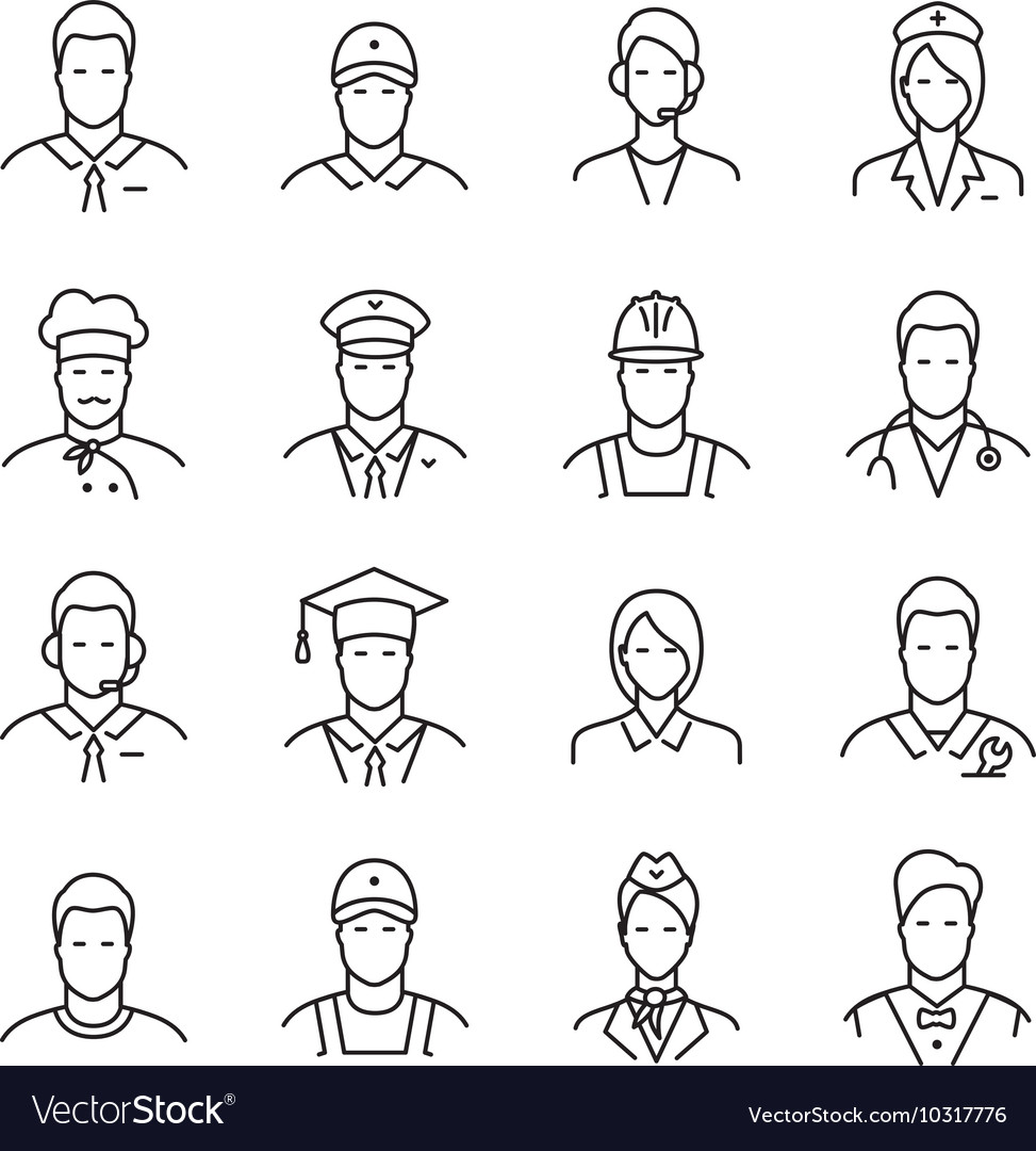 Professions line icons