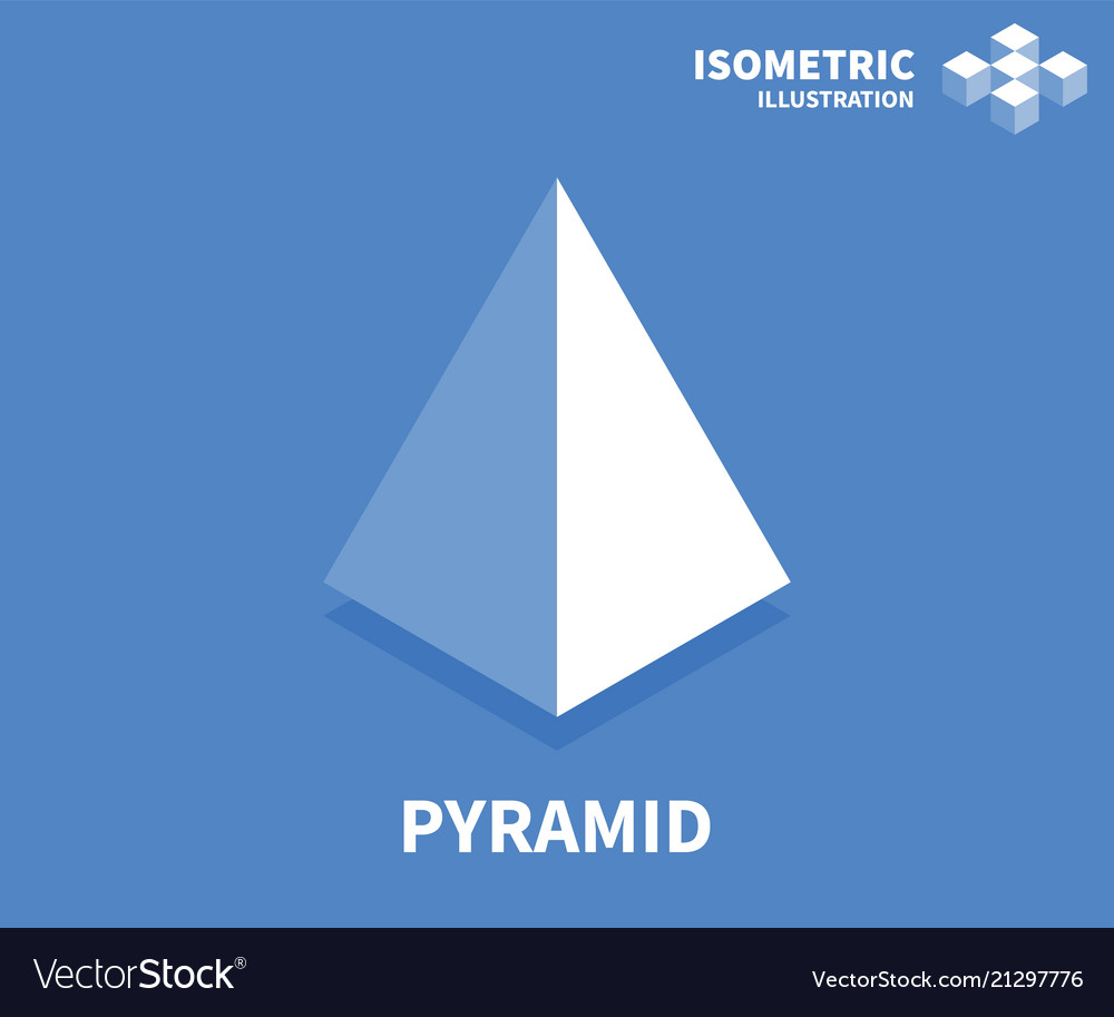 Pyramid icon isometric template for web design