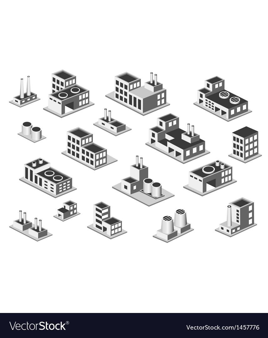 Set factory vector image