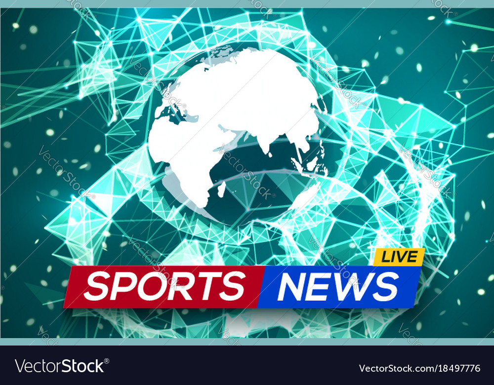 Sports news live with world map africa and europe vector image gumiabroncs Gallery