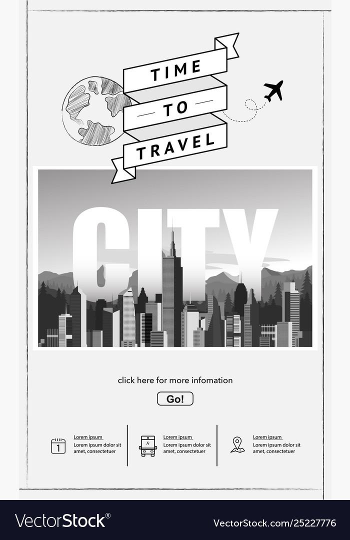 Urban landscape website template
