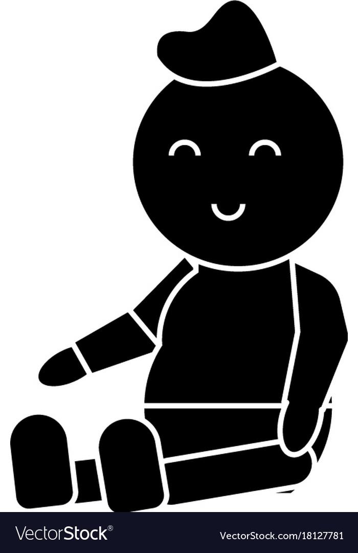 Baby newborn icon sign o