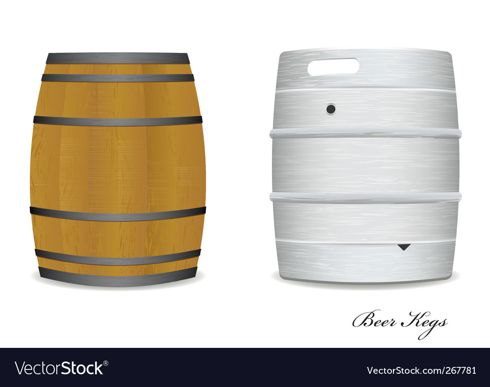 Beer keg barrel pair